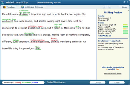 Grammar Checker Screenshot